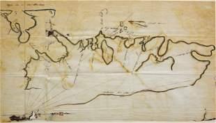 "Manuscript chart of ""Isla de los Estados"" or ""Staten"