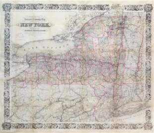 Colton's Railroad Map of New York State