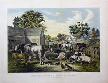 Currier & Ives - American Farm Yard Evening