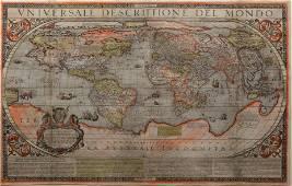 Arnoldi Rare Lafreri School World Map