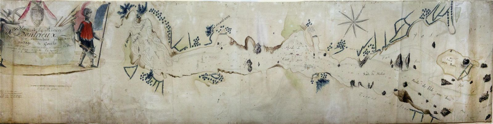 French Manuscript Map of the River Triuex by