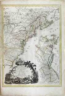 Denis Map of the American Revolutionary War, 1779