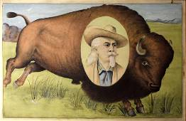 Spectacular Bison Watercolor for Buffalo Bill's West