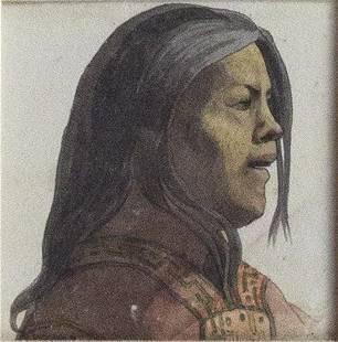 Choris Original Watercolor of a Woman