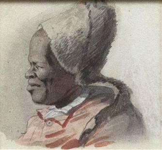 Choris Original Watercolor of a Woman with a hat
