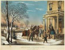 Currier, American Country Life. Pleasures of Winter.