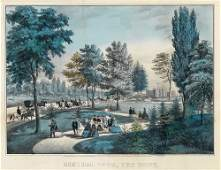 Currier and Ives, Central Park- The Drive