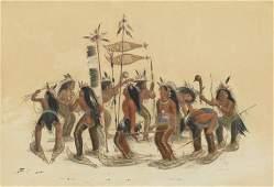 George Catlin, Snow Shoe Dance
