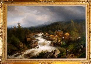 Hermann Herzog, Boy by a Waterfall