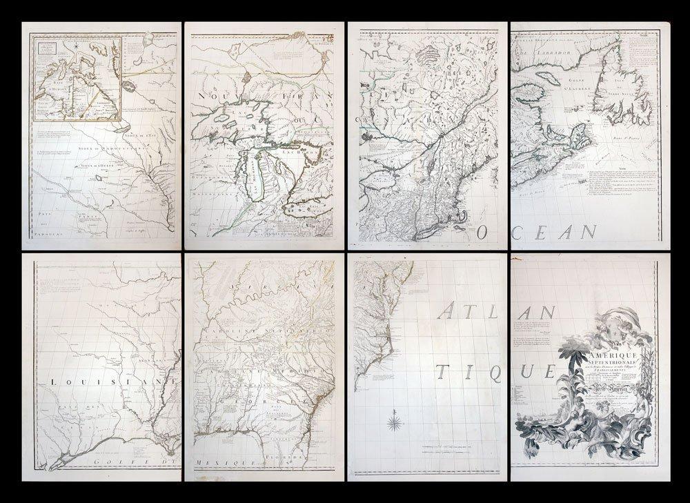 Amerique Septentrionale avec les Routes....(8 parts)