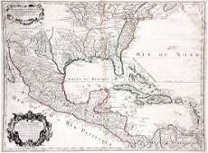 Carte du Mexique et de la Floride des Terres Angloises