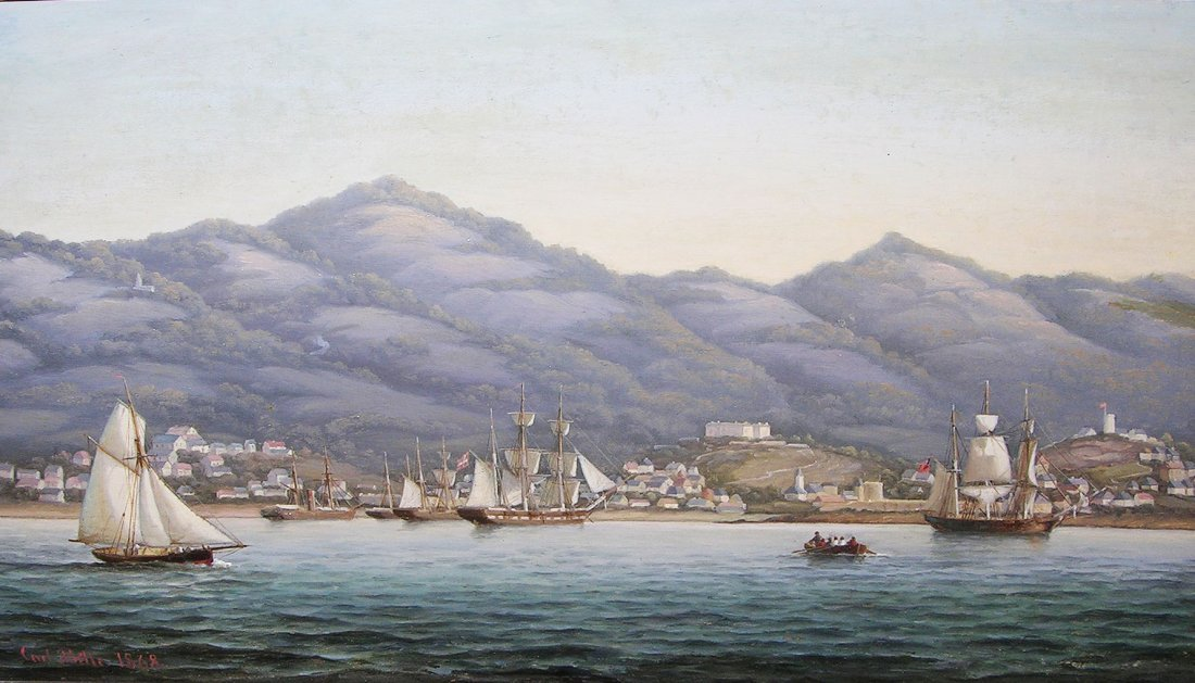 Shipping off Charlotte Amalie in the Danish West Indies