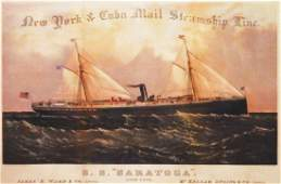 New York & Cuba Mail Steamship Line/S S Saratoga