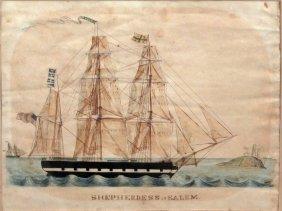 Watercolor Of Shepherdess Of Salem, 1840