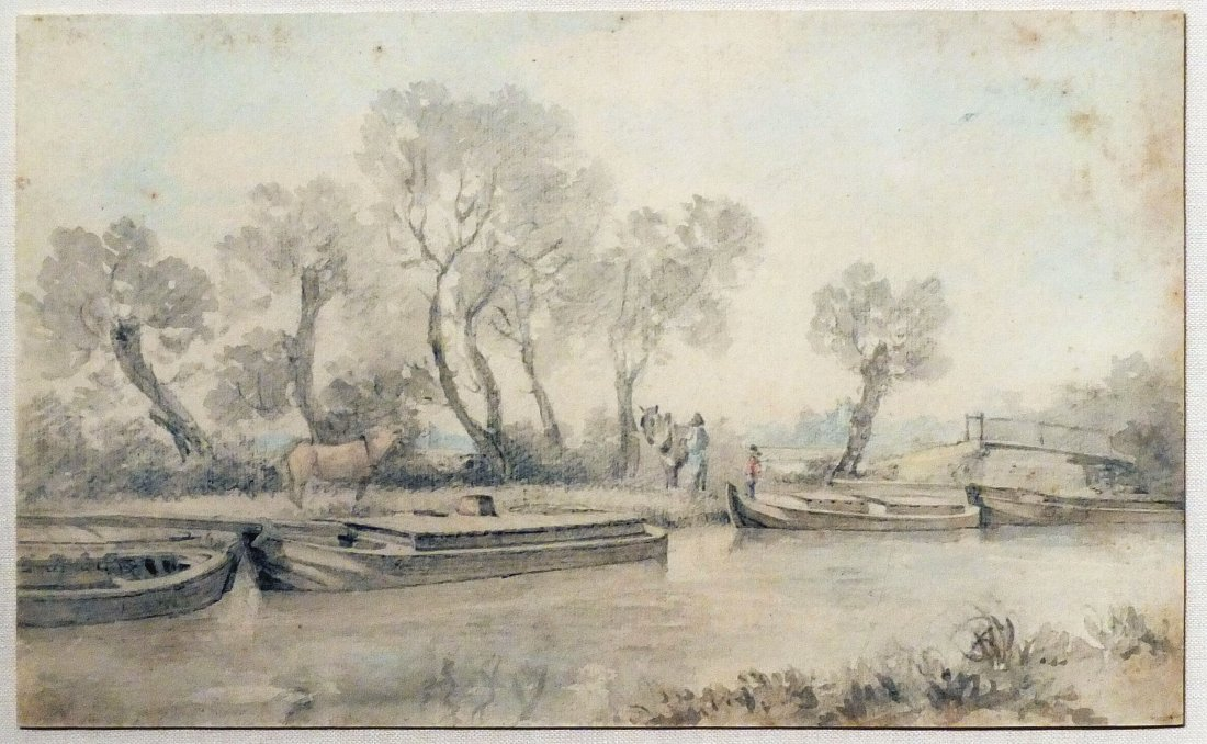 John Constable Drawing of River Stour