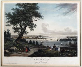 A View Of New York Aquatint After Garneray