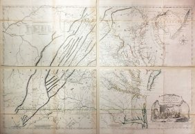 Jefferson And Fry Map Of Virgina, 1776
