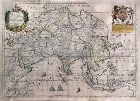"Blome's Asia Map From ""cosmography And Geography"""
