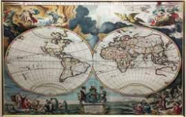 Beautifully Colored Jan Van Loon World Map
