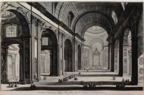 Piranesi Engraving Of St. Peter's Church, Vatican -