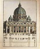 Architectural Drawing of St. Peter's Basilica in Rome