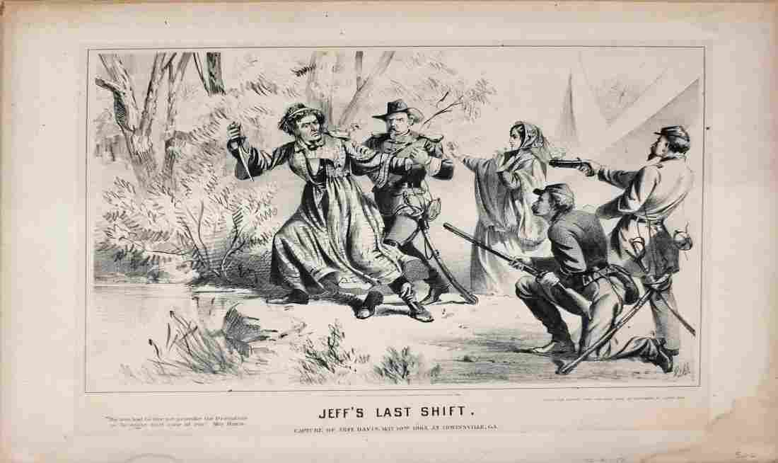 Buffords Lithograph, Jeff's Last Shift, 1865