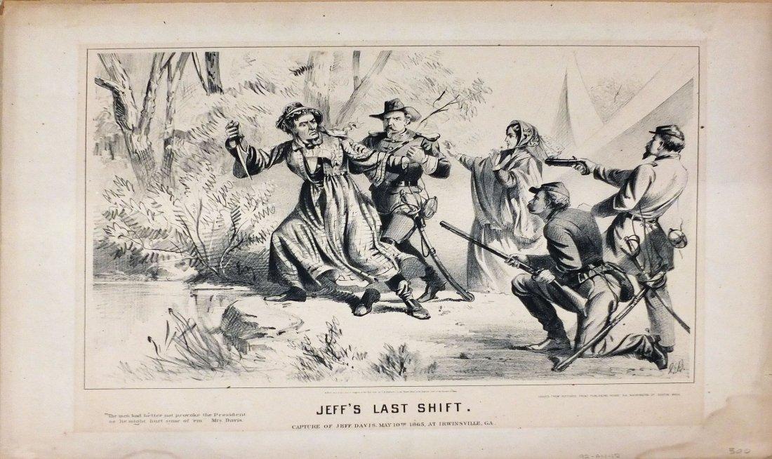 Buffords Lithograph, Jeff's Last Shift, 1865