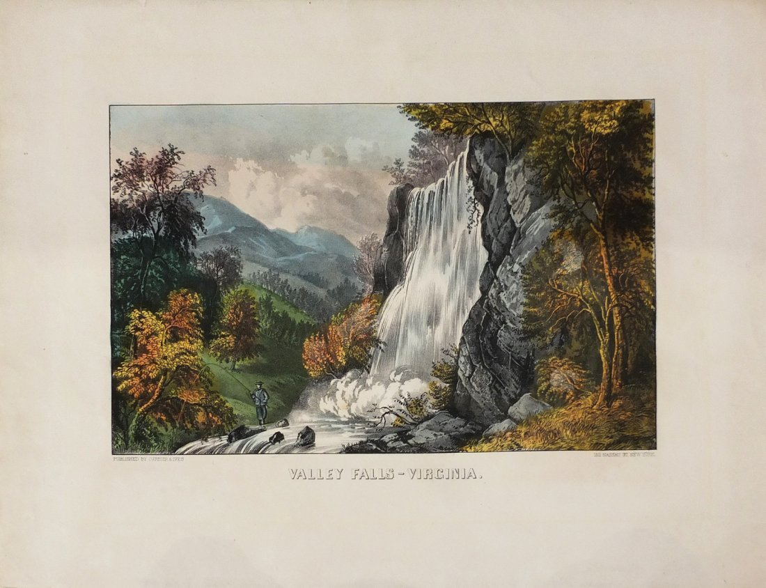 Currier & Ives Lithograph, Valley Falls, Virginia