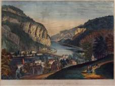 Currier & Ives Lithograph, Harper's Ferry, VA