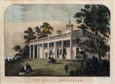Currier  Ives Lithograph Mount Vernon