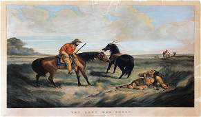 Currier  Ives Lithograph The Last War Whoop 1856
