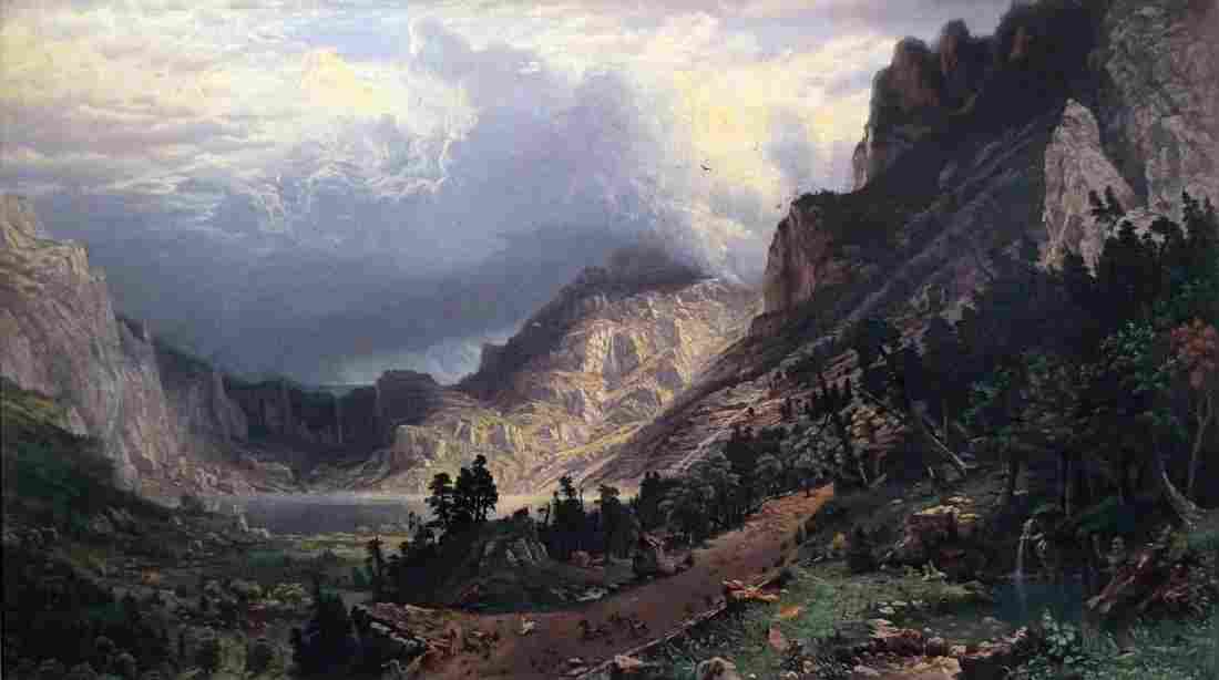 Bierstadt Chromolithograph of the Rockies