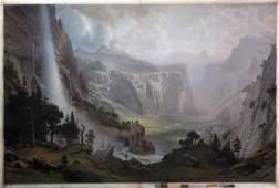 Bierstadt Chromolithograph of Yosemite