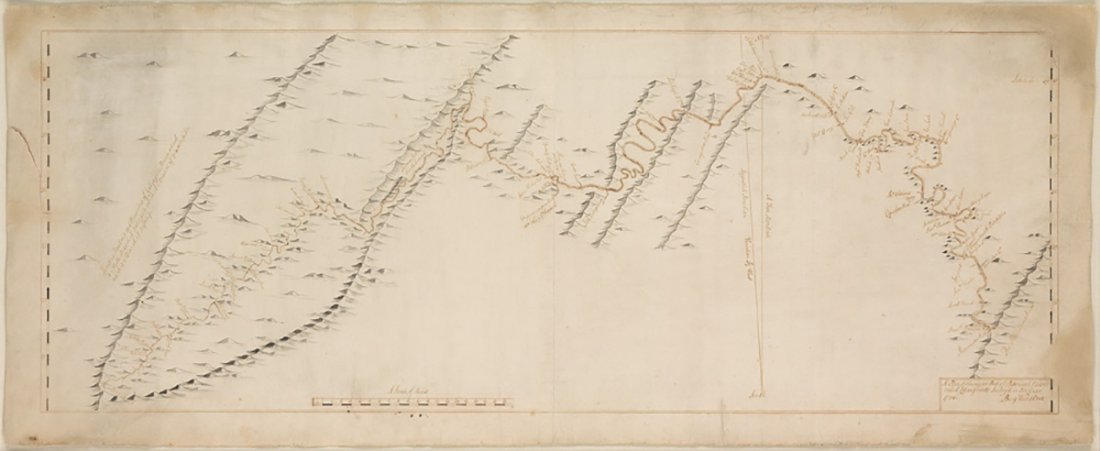 3 Manuscript Maps delignating the Land of Lord Thomas