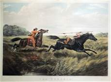Handcolored Lithograph by Currier  Ives