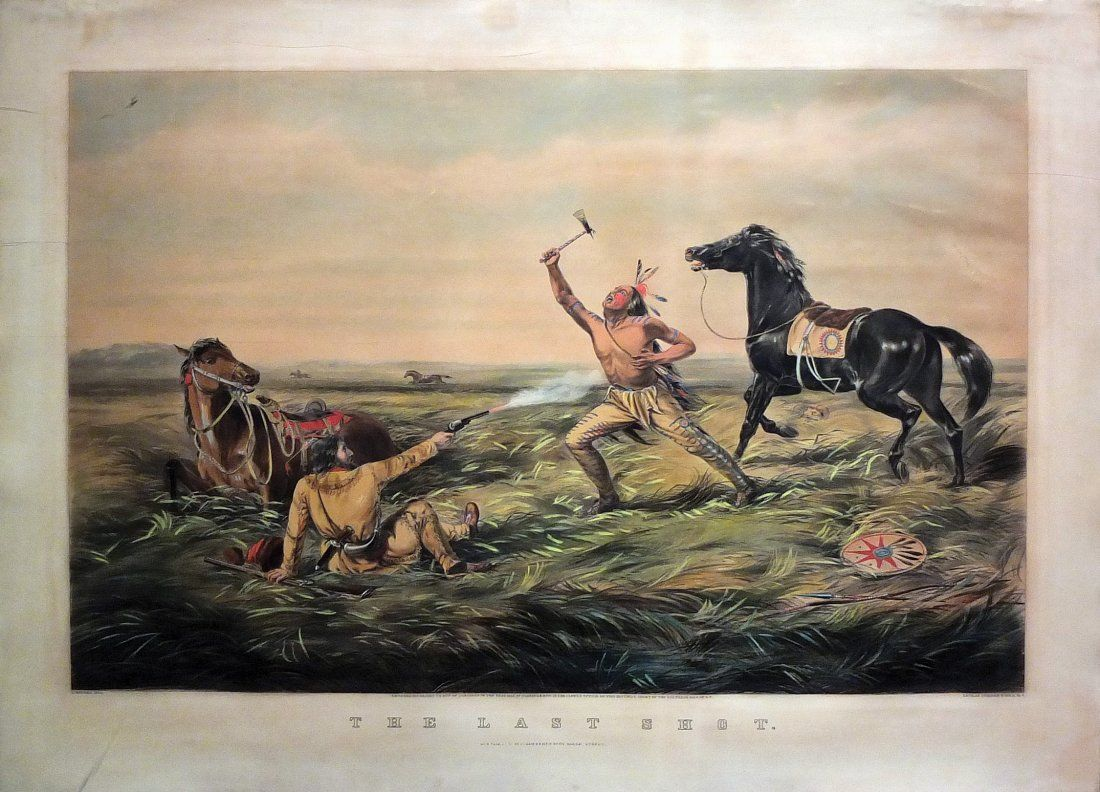 Hand-colored Lithograph by Currier & Ives of the
