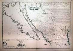 An Early 18th Century French Engraved Map of California