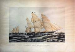 Currier and Ives Clipper Ship Sweepstakes