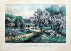 Currier  Ives Lithograph Americana