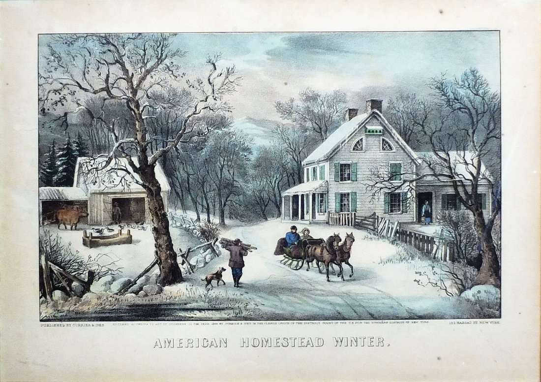 Currier & Ives Lithograph Americana