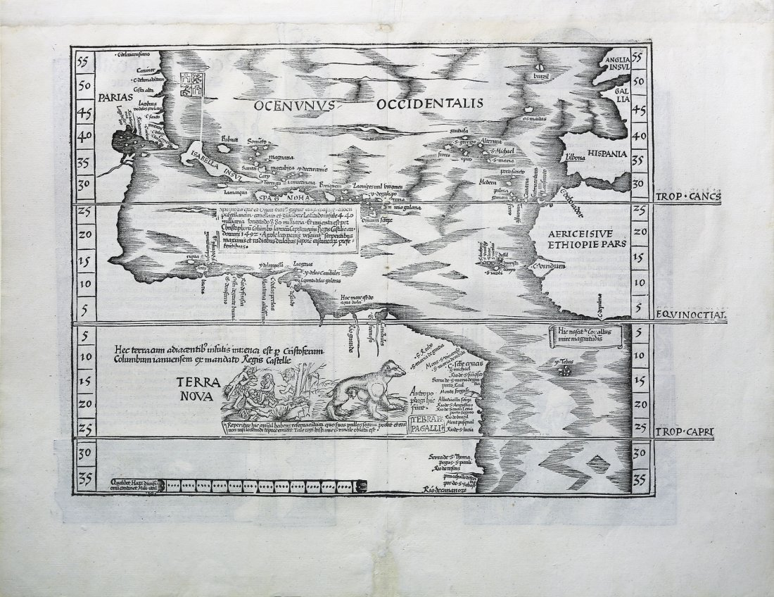 The Admiral's Map after Waldseemuller, showing New
