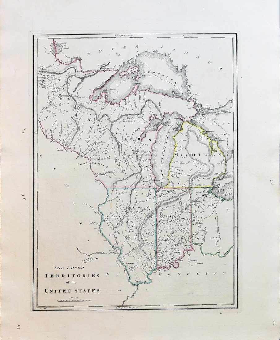 Early Map of The Michigan Territory by Carey