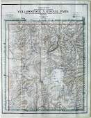 Early20thcentury map of Yellowstone National Park