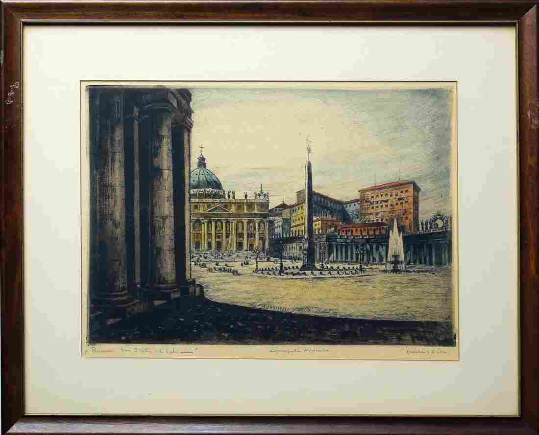 Two Bela Sziklay Views of Rome