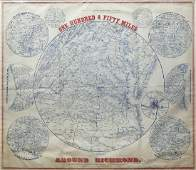 Popular Civil War Era Map of the Capital of the