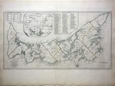Important early map of St. Johns Island by T. Jefferys