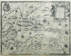Theodore de BryÂ's fascinating map of the West Indies