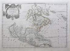 Sanson Map of the Americas