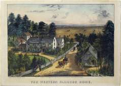 Currier  Ives Western Farmers Home Lithograph