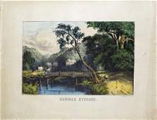 Currier & Ives Summer Evening Lithograph